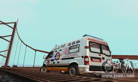 Renault Master PCSO AMBULANCE for GTA San Andreas right view