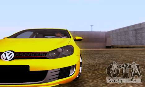 Volkswagen Golf 6 GTI for GTA San Andreas back left view
