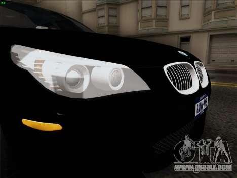 BMW M5 Hamann for GTA San Andreas inner view