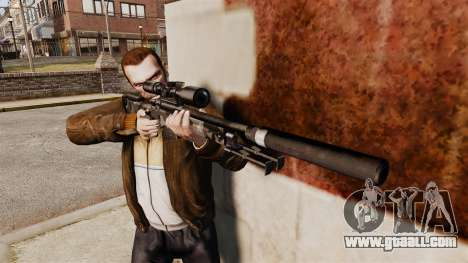 AW L115A1 sniper rifle with a silencer v5 for GTA 4 third screenshot