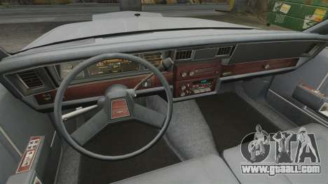 Chevrolet Caprice 1989 for GTA 4 back view