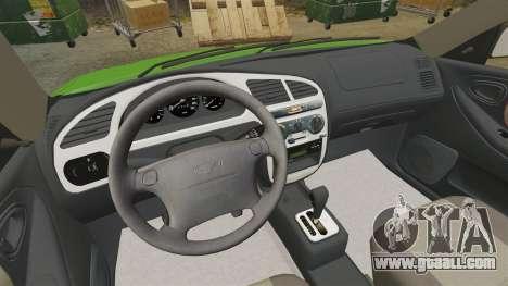 Daewoo Lanos FL 2001 US for GTA 4 inner view