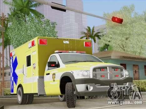 Dodge Ram Ambulance BCFD Paramedic 100 for GTA San Andreas wheels