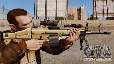 Assault machine FN SCAR-L for GTA 4