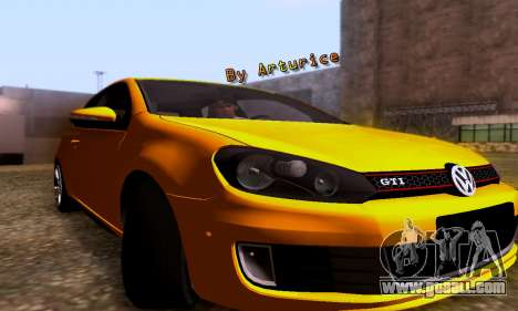 Volkswagen Golf 6 GTI for GTA San Andreas left view