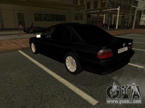 BMW 740I for GTA San Andreas back view