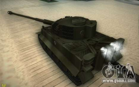 Pzkpfw VI Tiger I for GTA San Andreas right view
