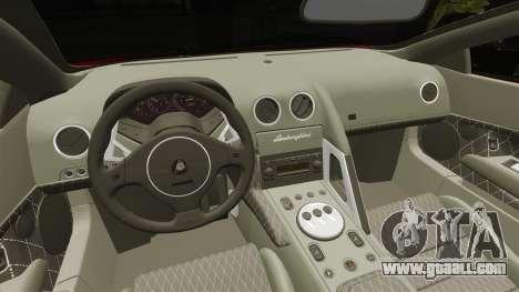 Lamborghini Murcielago 2005 for GTA 4 inner view