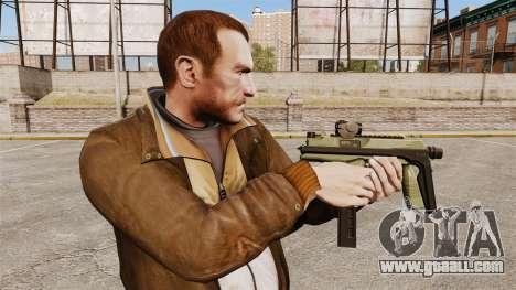 MP9 submachine gun tactical v2 for GTA 4