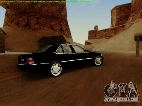 Mercedes-Benz W140 for GTA San Andreas side view