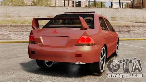 Mitsubishi Lancer Evolution IX 1.6 for GTA 4 back left view