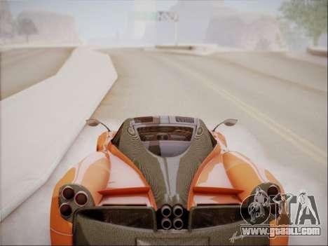 Pagani Huayra for GTA San Andreas inner view