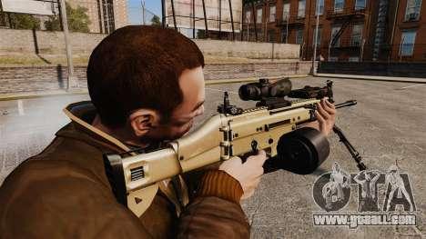Assault machine FN SCAR-L for GTA 4 second screenshot