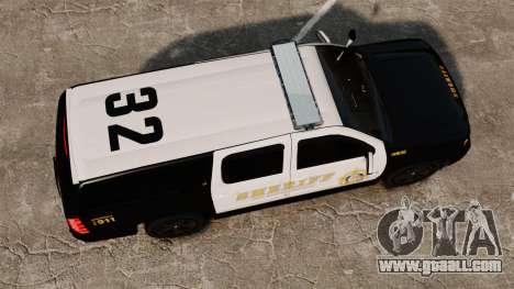 Chevrolet Suburban GTA V Blaine County Sheriff for GTA 4 right view
