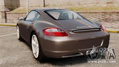 Porsche Cayman S for GTA 4 back left view