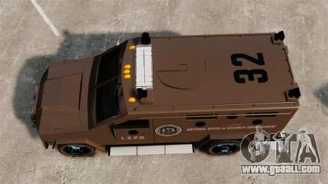 Lenco Bearcat Armored LSPD GTA V for GTA 4 right view