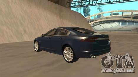 Jaguar XFR 2010 v1.0 for GTA San Andreas back view