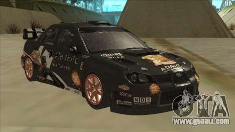 Subaru Impreza WRC Itasha for GTA San Andreas left view