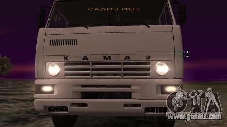KAMAZ-54112 for GTA San Andreas inner view