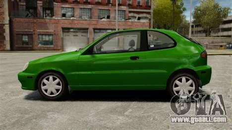 Daewoo Lanos FL 2001 US for GTA 4 left view