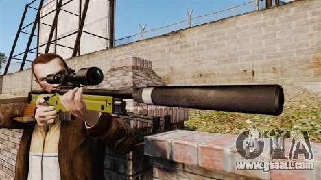 AW L115A1 sniper rifle with a silencer v3 for GTA 4 third screenshot