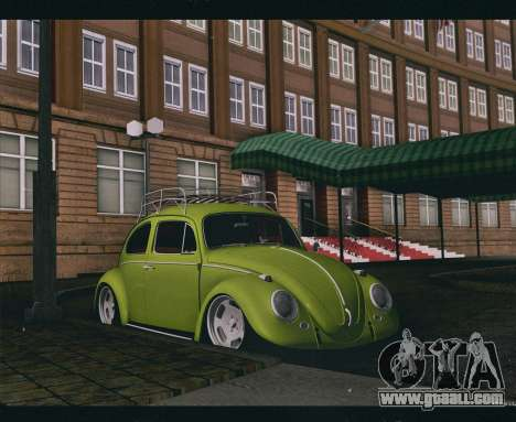 Volkswagen Beetle 1966 for GTA San Andreas back left view