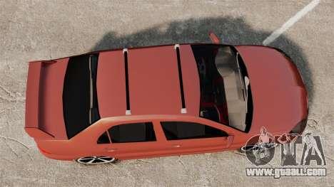 Mitsubishi Lancer Evolution IX 1.6 for GTA 4 right view