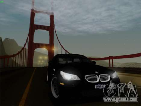 BMW M5 Hamann for GTA San Andreas back view