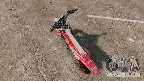 Honda CRF 450 Turbo Motard for GTA 4 back left view