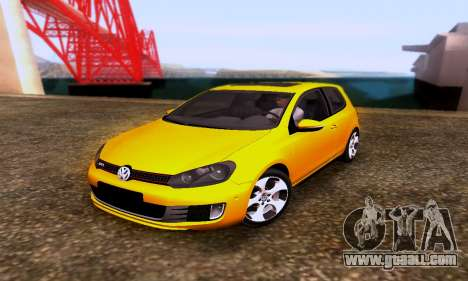 Volkswagen Golf 6 GTI for GTA San Andreas
