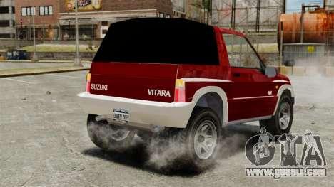 Suzuki Vitara JLX for GTA 4 back left view