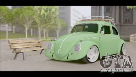 Volkswagen Beetle 1966 for GTA San Andreas back view
