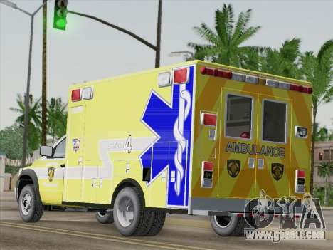 Dodge Ram Ambulance BCFD Paramedic 100 for GTA San Andreas back left view