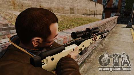 AW L115A1 sniper rifle for GTA 4 second screenshot
