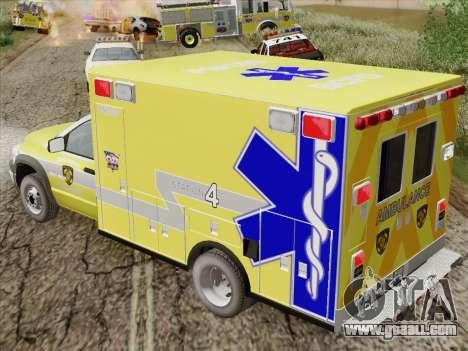 Dodge Ram Ambulance BCFD Paramedic 100 for GTA San Andreas side view