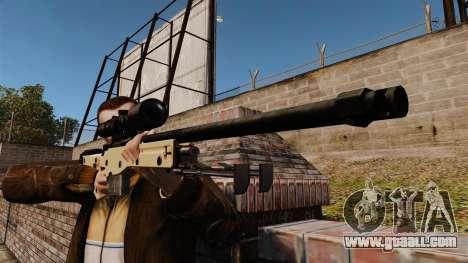 AW L115A1 sniper rifle for GTA 4 third screenshot