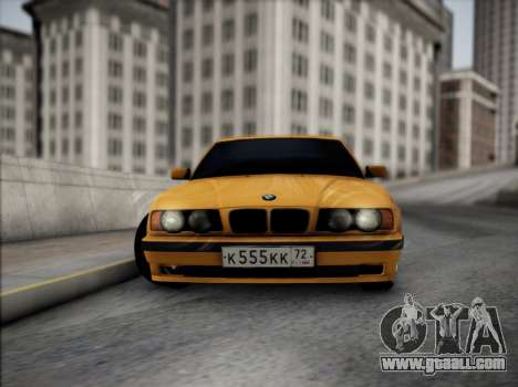 BMW M5 E34 for GTA San Andreas inner view