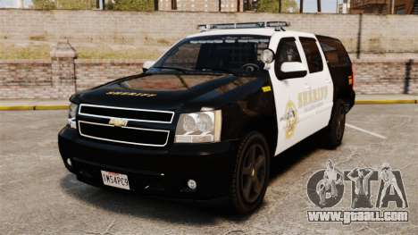 Chevrolet Suburban GTA V Blaine County Sheriff for GTA 4