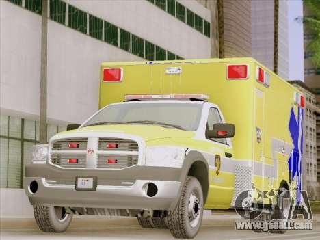Dodge Ram Ambulance BCFD Paramedic 100 for GTA San Andreas left view