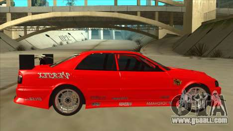 Toyota Chaser JZX100 DriftMuscle for GTA San Andreas back left view