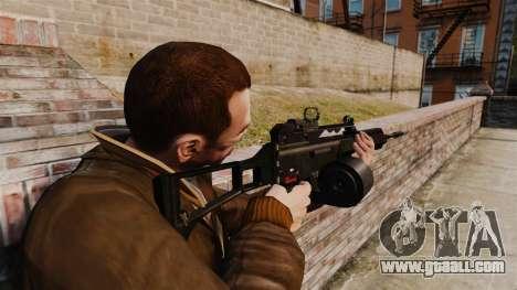 MG36 v4 H&K assault rifle for GTA 4 second screenshot