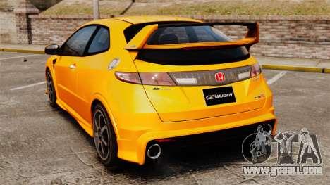 Honda Civic Type-R (FN2) for GTA 4 back left view