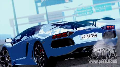 Lamborghini Aventador LP760-2 2013 for GTA San Andreas back left view