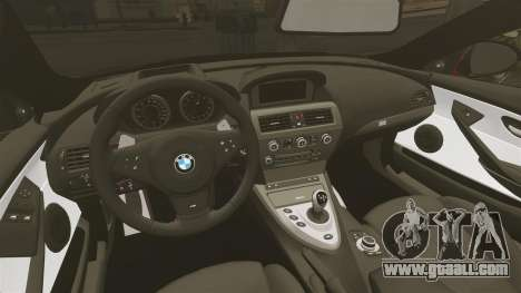 BMW M6 for GTA 4 inner view