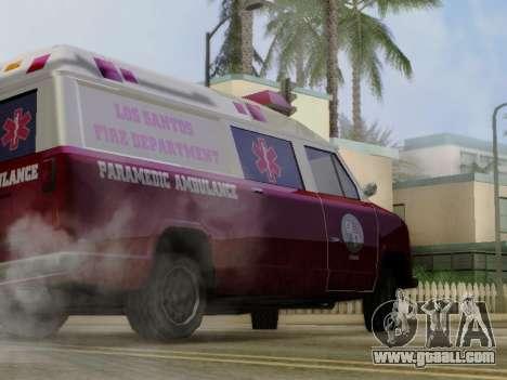 Vapid Ambulance 1986 for GTA San Andreas back view