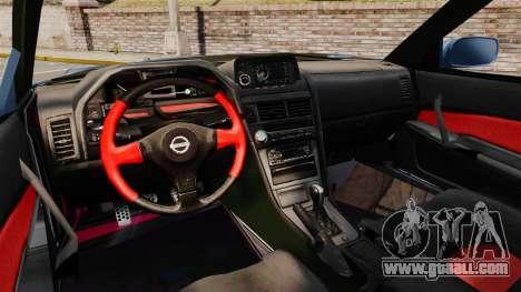 Nissan Skyline R34 GT-R Z-tune for GTA 4 back view