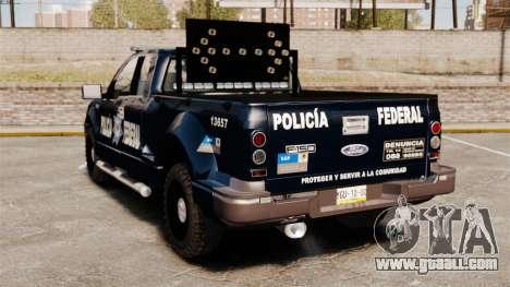 Ford F-150 De La Policia Federal [ELS & EPM] v1 for GTA 4 back left view