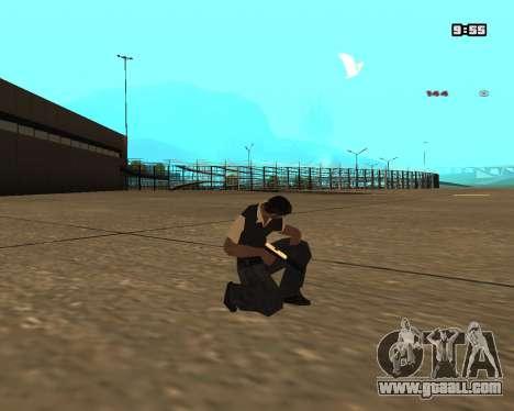 White Chrome Silenced for GTA San Andreas second screenshot