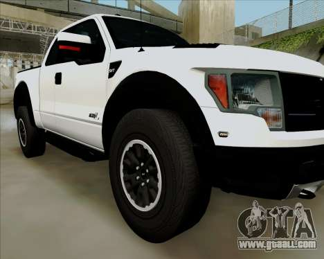 Ford F-150 SVT Raptor 2011 for GTA San Andreas back view
