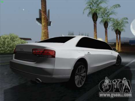 Audi A8 Limousine for GTA San Andreas right view